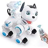 ANTAPRCIS Ferngesteuert Hund Roboter Spielzeug, Intelligent RC Hund mit Licht und Musik, Programmierbar Niedlich Interaktiv D