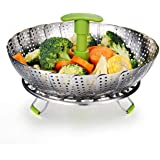 "SYGA Large Stainless Steel Steamer Basket for Vegetable/Insert for Pots, Pans (7.25""-11"")"