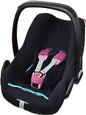 ByBoom - Universal Sommerbezug, Schonbezug aus 100% Baumwolle, für Babyschale, Autositz, z.B. Maxi Cosi CabrioFix, City, Pebble; Designed in Germany, MADE IN EU