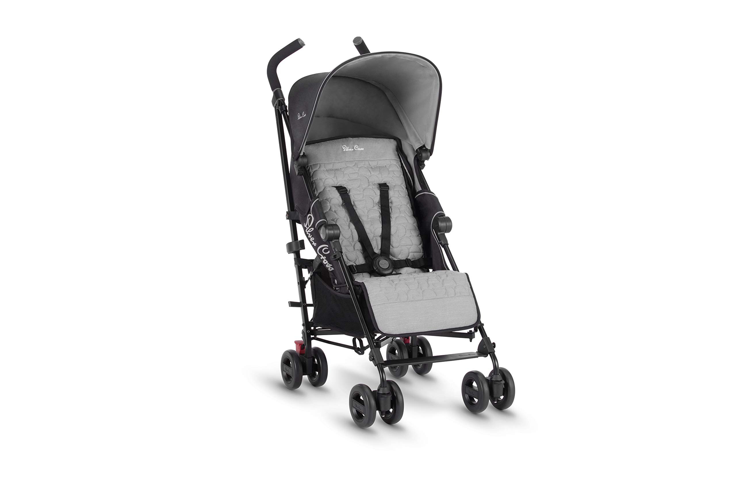 Silver Cross Zest Silver Silver Cross Ultra lightweight zest pushchair, weighing in at only 5.8kg, is suitable from birth up to 25kg It has a convenient one-hand fold, while the compact design makes it easy to store The fully lie-flat recline is best in its class 3