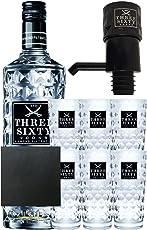 Three Sixty Vodka 3,0 Liter + 6 Three Sixty Gläser + Pumpe + Schieferuntersetzer