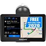 Navigatore Satellitare Auto, 7 Pollici GPS per Auto Moto Camion Truck Navigation con Avviso Traffico Vocale, Limite di…