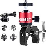 Homeet Super Morsetto Clamp con Teste Treppiedi Supporto Pinza Fotocamera Granchio Clip Rotazione a 360°con Filettature da 1/