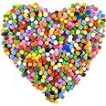 NATUCE Pompoms,1000 Pièces 8mm Pompoms, Pompoms Multicolore, Petit Pompons Loisirs Creatifs, Pompons de Couleurs Assorties po