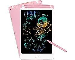 SCRIMEMO Colorato Tavoletta Grafica LCD Scrittura Digitale 10 Pollice, Elettronica Lavagna Cancellabile Tavolo da Disegno Por