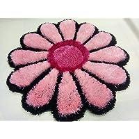 Jai Durga Home Furnishing Sunflower Bedside Runner - (30 x 30 inch) (Pink)