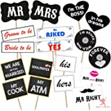 Party Propz ™ Pre- Wedding photobooth Props 18 PCS/Wedding Props for Photography