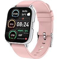 Montre Connectée Femme, 1,69 Pouces Smartwatch 24 Modes Sport Montre Intelligente avec Fréquence Cardiaque Podomètre…