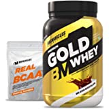 Bigmuscles Nutrition Premium Gold Whey 1Kg [Belgian Chocolate] |Whey Protein Isolate & Whey Protein Concentrate, 25g Protein