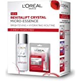 L'Oreal Paris Crystal Micro-Essence 65ml and 3 Revitalift Essence Sheet Masks Free, 155 g (Pack of 4)