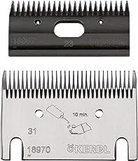 Eider Premium Schermesser-Set Rind/Pferd - Feinschur, 31/23 Zähne - Schnitthöhe: 2-4 mm - passend für Constanta, FarmClipper - und Marken Wie Heiniger, Aesculap, Liscop