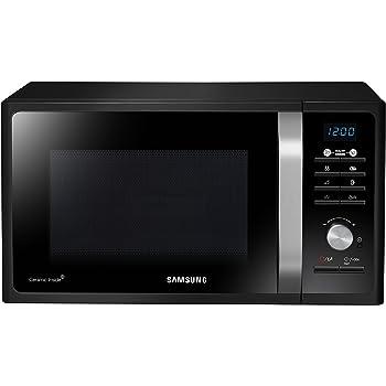 Samsung Forno a Microonde Combinato da 800 W con Grill e Piatto Doratore Crusty, 23 Litri, Nero