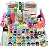 Coscelia Poudre Acrylique Kit Nail Art Manucure Colle à Ongle Gel UV Capsules Faux Ongles Décoration Set