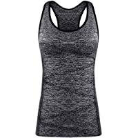 Disbest sport tank top women yoga top with breathable quick-drying fabrics and comfort seamless design integrated bras…