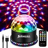USB disco lampor solmer festscenlampor RGB disco boll ljus blinkande effekter USB-kabel 7 färger 6 ljuslägen ljudaktiverad au