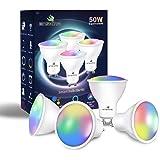 Enshine GU10 slimme lamp S, dimbare witte en RGB kleur veranderende wifi-lampen, compatibel met Alexa en Google Home, afstand