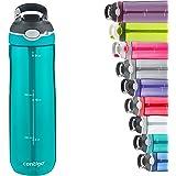 Contigo Ashland Autospout Water Bottle with Flip Straw, Large BPA Free Drinking Bottle, Sports Flask, Leakproof Gym Bottle, I