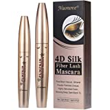4D Silk Fiber Lash Mascara Extra Long Lash Mascara, 4D Mascara Fiber Lashes, 4D Silk Fiber Lash Mascara, Long-Lasting, No Clumping, No Smudging, Longer, Thicker