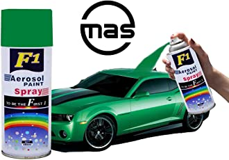 F1 Aerosol Spray Paint Green For Multipurpose For Car,Bike,Cycle (Green),450 Milliliters