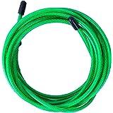 Hopprep reservkabel för crossfit, fitness och boxning av Velites   grön PVC, stål 4 mm diameter   för hård träning   kompatib