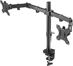 Lavolta Monitorhalterung Monitor Stand für LCD LED TV Bildschirm mit voll einstellbaren Armen - Dual