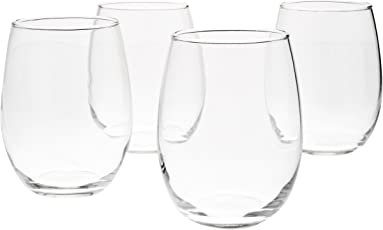AmazonBasics - Weingläser ohne Fuß, 443 ml, XXer-Set
