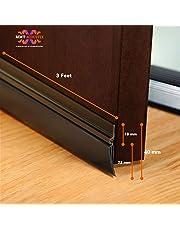 MMT Acoustix® Door Seal bottom, Door Air Gap rubber Shield, 36''/93 cm, Anti Rust, Brown Colour, Black Rubber.