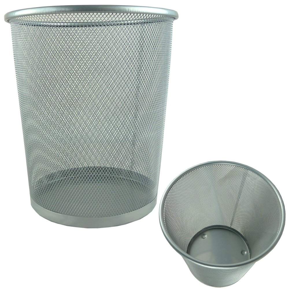 circular mesh bin  waste paper basket (black) amazoncouk  - circular mesh bin  waste paper basket (black) amazoncouk kitchen  home
