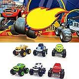 Mallalah 6 Pack de Juguetes para niños y Monster Machines Super Stunts Blaze Kids Truck Car Regalo para niños en cumpleaños N