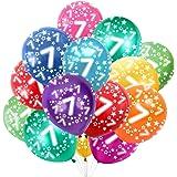 Globo Número 7, Cumpleaños Globos 7 Años, 7 Cumpleaños Decoración Globos Niño,Colores Globos Numeros 7 Fiesta Decoración para