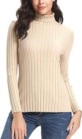 Aibrou Maglioni Dolcevita Basic Donna Invernali Eleganti a Manica Lunga Maglione Collo Alto Pullover Maglia Elegante Autunno Inverno
