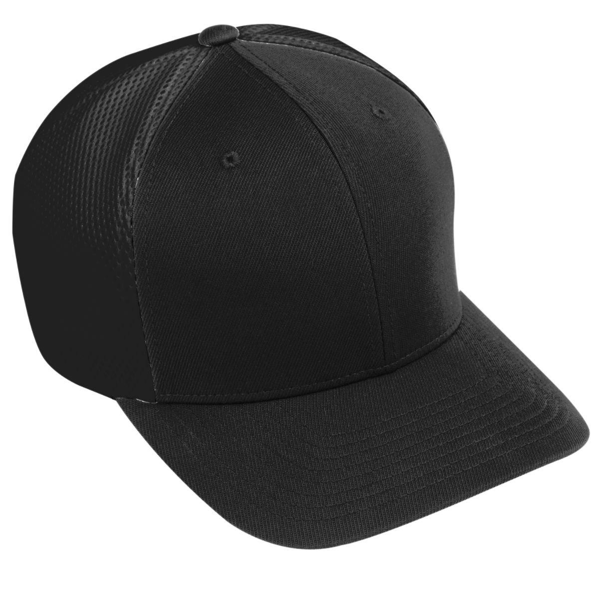 Augusta Sportswear Big Boy da sei pannelli Vapor Flexfit Black/black Taglia unica