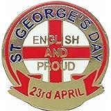 """Spilla della Festa di San Giorgio, """"Proud to be English"""", Spilla Inglese"""
