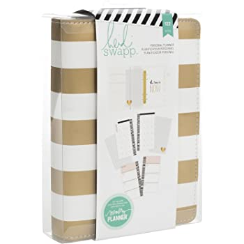 Heidi Swapp Personal Memory Planner-Gold Foil Stripe