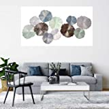 Exotic Creations Circular Plates Metal Wall Decor Hanging Wall Arts for Living Room Decoration | Dimensions:48 * 25 * 2 INCH