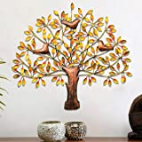 Urban Tree'Z Metal Orange Tree Wall Hanging for Home Décor