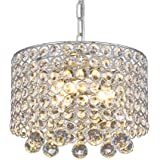 Lampadario di cristallo moderno, Plafoniera da incasso a 3 luci Plafoniera da 9.8 pollici per corridoio, sala da pranzo, came