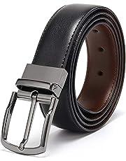 b94882551 Coovs Mens Reversible Belt For Men Dress of One-Piece Grain Leather 1 3/