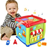 Early Learning Educational Music and Colorful Shape Sorter Toys Baby Toys 12-18 Month Activity Cube Toys for 1 Years Old…