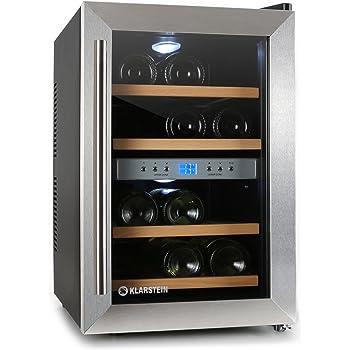 Petite armoire à vin à 2 étages, réfrigérateur pour boissons acier inoxydable