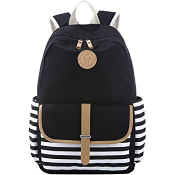 590f1c19a4df S-ZONE French Breton Nautical Striped Backpack Rucksack Marine Sailor Navy  Stripy School Bags for