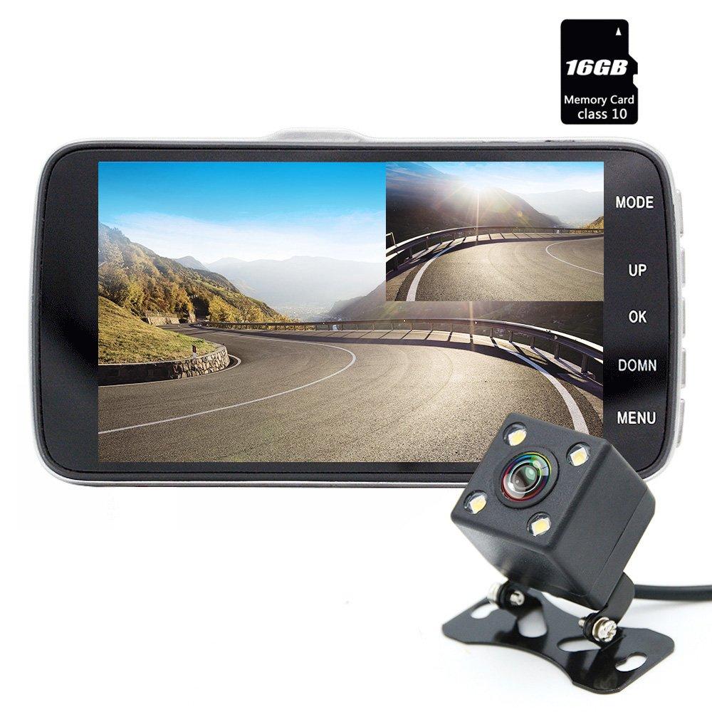 dash cam junsun car camera dvr full hd 1080p dual lens 170 with rear view cam ebay. Black Bedroom Furniture Sets. Home Design Ideas