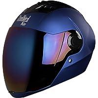 Steelbird SBA-2 Matt Full Face Helmet with Iridium Blue Visor (Blue, 600 mm)
