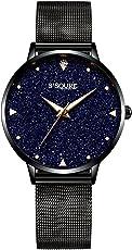 Alienwork Damen-Uhr mit Milanaise-Armband Marmor-Zifferblatt