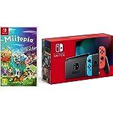 Nintendo Switch (Neon Red/Neon Blue) + Miitopia (Nintendo Switch)