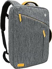 Laptop Rucksack 17.3 Zoll, Evecase Slim 3-in-1 Umwandelbar Rucksack Umhängetasche mit Laptopfach/Akteneinteilung/Zubehörfächer - Grau