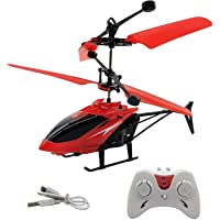 RISING BULL Remote Control and Hand Sensor Charging Helicopter Toys with 3D Light Toys for Kids (Indoor & Outdoor Flying…