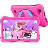 Tablette Enfants HD 8 Pouces, 32Go+128Go Stockage, 2Go RAM, Contrôle Parental, Kidoz APP, 3CM Coque Renforcée, 360° Rotatif S