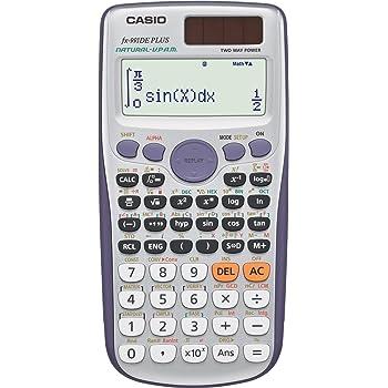 CASIO FX-991DE Plus wissenschaftlicher Taschenrechner/Schulrechner mit 580 Funktionen und natürlichem Display, Solar/Batterie