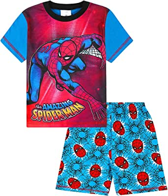 Disney Marvel Spiderman Short Boys Pyjamas ages 2 to 7 Years